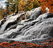 Bond Falls in Fall by Chintsala