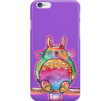 Cute Colorful Totoro! Tshirts + more! (watercolor)  iPhone Case/Skin