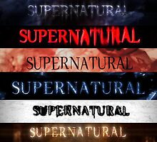 Supernatural intro seasons 1-10 by linnlag
