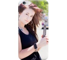 Female mechanic with trade tools iPhone Case/Skin