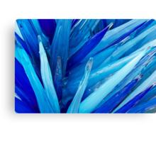 Ice Blue Glass Canvas Print