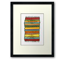 magic knee-rug Framed Print