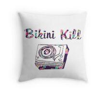 Bikini Kill Purple Floral Riot Grrrl Feminist Design Throw Pillow
