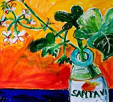 GERANIUMS by ART PRINTS ONLINE         by artist SARA  CATENA