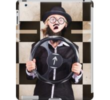Wrong turn man must choose with bad GPS direction iPad Case/Skin