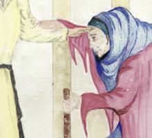 Jesus Heals the Crippled Woman on the Sabbath Sticker