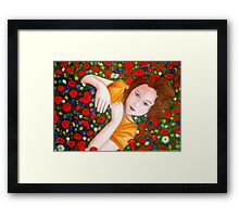 "Beautiful ""Poppy"" Girl Framed Print"