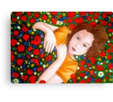 "Beautiful ""Poppy"" Girl Canvas Print"