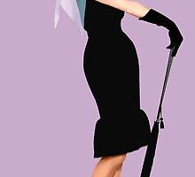 Audrey Hepburn - Little Black Dress by Everett Day