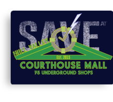 SAVE at the Hill Valley Courthouse Mall Canvas Print