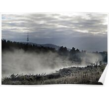 Autumn morning in Canberra Poster