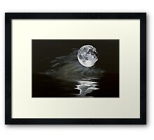the fullest moon Framed Print