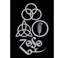 LARGE METAPHYSICAL RUNES - diamonds are forever (silver)  Photographic Print