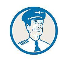 Flight Engineer Navigator Circle Retro by patrimonio