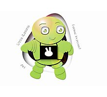 Aki Lime Robot - I Come In Peace! Photographic Print