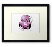 Mitsu Pink Robot - Take Me to your Leader! Framed Print