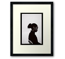 chair and amen. Framed Print