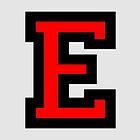 Letter E Black Red Character by theshirtshops