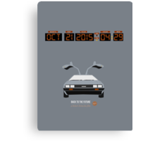 Back To The Future 'Roads' 2015 Edition - Grey Canvas Print