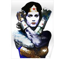 "Title: ""First Date"", Wonder Woman, Lynda Carter inspired Earth Girl, Poster"