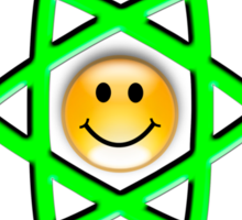 Smiley Atom Sticker