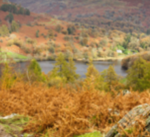 Autumnal Views over Rydal Water. Sticker