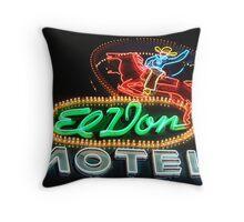 El Don Motel Route 66 Throw Pillow