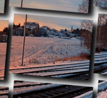 The end of the railroad | landscape photography Sticker