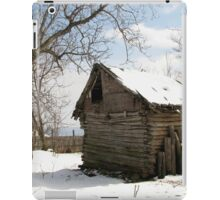 Rustic Winter Scene in Barda Romania - all products iPad Case/Skin