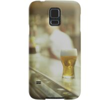 Glass of beer in Spanish tapas bar square Hasselblad medium format  c41 color film analogue photograph Samsung Galaxy Case/Skin