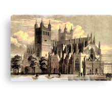 Exeter Cathedral, England founded 1050 - all products Canvas Print
