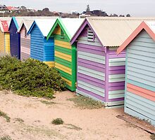 Bathing Boxes • Brighton Beach • Victoria by William Bullimore