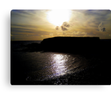 Dusk light on the Sea :)  Canvas Print