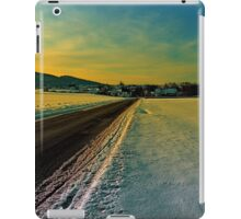 Winter road into dusk | landscape photography iPad Case/Skin