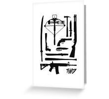 The Walking Dead Weapons Greeting Card