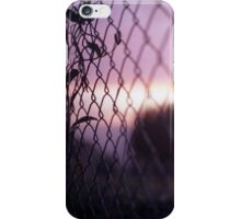 Wire fence and foliage on summer evening  in Spain square medium format film analogue photo iPhone Case/Skin