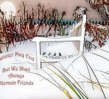 "A Throne of White ""Friends"" ~ Greeting Card, Pillow, Tote, Mugs, etc. by Susan Werby"