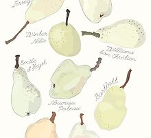 9 Pears in Pale by CeliaThonet