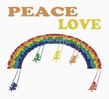 peace love children rainbow Kids Clothes