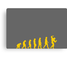 evolution muscle Canvas Print