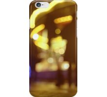 People walking in street at night with fairground lights in Hasselblad vintage camera analogue film photo iPhone Case/Skin