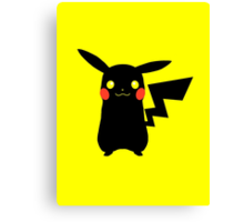 Black Pikachu Canvas Print