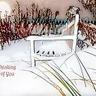 "A Throne of White ""Thinking of You"" ~ Greeting Card by Susan Werby"