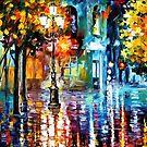 Old Streets — Buy Now Link - www.etsy.com/listing/221899896 by Leonid  Afremov