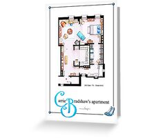 Carrie Bradshaws apartment as a Poster (TV version) Greeting Card