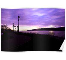 Purple sunset fresco Poster