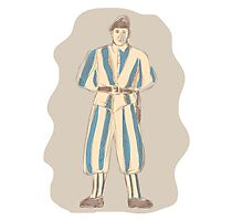 Swiss Guard Standing Sketch Photographic Print