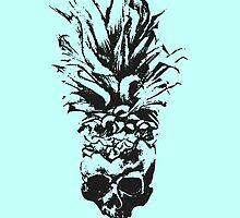 Skull Pineapple Grunge Case by Elys XXI