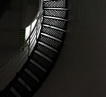 Staircase Cape Leeuwin Lighthouse WA by Adrian Paul