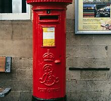 Letter Box on Carlisle Railway Station Cumbria England 198405310004 by Fred Mitchell